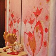blumiges Element - Gestaltung Gästetoilette
