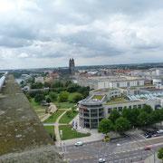 Fantastischer Panoramablick auf Magdeburg und Umgebung.