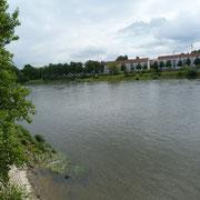Blich auf die Elbe am Stellplatz