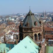 Während des Aufstieges auf den Turm des Münsters
