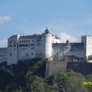 Die Festung Hohensalzburg von jedem Ort in der Stadt zu sehen.