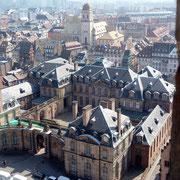 Blick auf Strasbourg vom Turm des Münsters