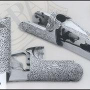 Ripa incisione manuale inglesina bulino, punta e martello, bascula fucile da caccia