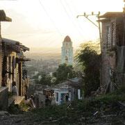 Im Hintergrund die Kirche von Trinidad