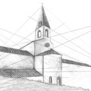 abbaye du thoronet + technique de perspective