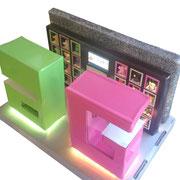 Maquette + ruban LED: vue de haut