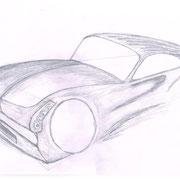 Perspective d'un voiture