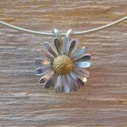 Gänseblümchen in Silber und 750/-er Gelbgold