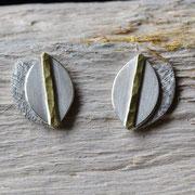 Ohrstecker aus Silber mit Goldbelötung