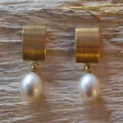 Goldohrstecker mit Perle
