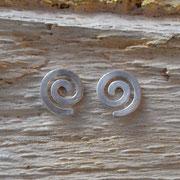 Spiralohrstecker aus Silber