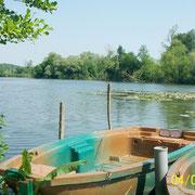 L'étang privé du camping