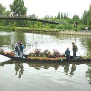 Quartier St LEU barque à cornets sur la Somme à AMIENS