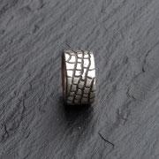 Ring Reptil Silber geschwärzt
