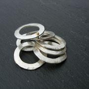 Scheibenring Silber/Gold