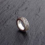 Ring Zebra Silber
