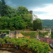 Le château de Montignac (vue de la terrasse)