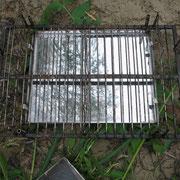 Нижняя решетка. Трубочки для вставки верхней решетки.