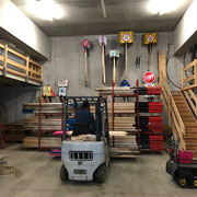 Schneestangen Management im Bauhoflager