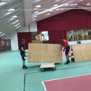 Umbauarbeiten im sport.park.lech für diverse Veranstaltungen