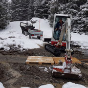 Wegesanierung nach Regenfällen, WWW Lech-Zürs