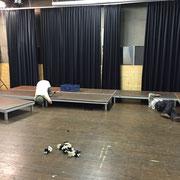 Bühnenbau Postgarage für Jazzbühne Lech
