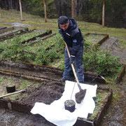 Arbeiten im Pflanzgarten