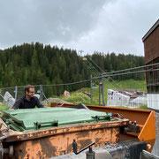 Müllcontainer tauschen Friedhof
