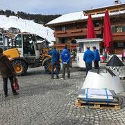Kampen goes Lech-Veranstaltung am Rüfiplatz, Transporte