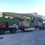 Hüttentransporte für Zuger Dorffest