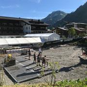 Arlberg Classic Car Rally, Zeltaufbau