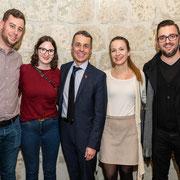 Am Kongress der Jungfreisinnigen Schweiz mit Bundesrat Ignazio Cassis und Freunden (15.03.2019)