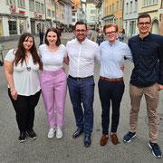 Der neue Vorstand der Jungfreisinnigen Winterthur (26.06.2020)