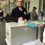 Stimmabgabe im Wahlbüro Winterthur-Altstadt (05.03.2018)