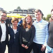 Mit Bundesratsgattin Friedrun Burkhalter am Tag der FDP in Zug (2014)