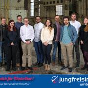 Die Gemeinderatskandidaten der Jungfreisinnigen Winterthur (2017)