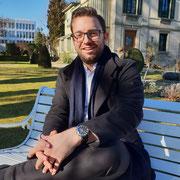 Foto für ein Interview im Radio Stadtfilter  (Garten der Villa Flora, 16.02.2019)