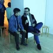 Im Gespräch mit einem chinesischen Künstler (Villa Sträuli, 2017)