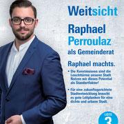 Raphael Perroulaz in den Grossen Gemeinderat (2018)