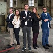 Der Vorstand der Jungfreisinnigen Winterthur (2017)