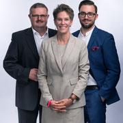 Gruppenfoto mit Stadträtin Barbara Günthard-Maier und Gemeinderat Thomas Leemann (2018)