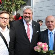Mit Stadtpräsident Mike Künzle und Bundesrat Ueli Maurer (Stadtjubiläum 2014)