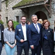 Mit Bundesrat Didier Burkhalter auf Schloss Rapperswil (2015)