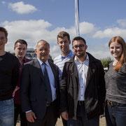 Mit Bundesrat Johann Schneider-Ammann am Tag der FDP in Zug (2014)
