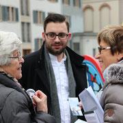 Im Gespräch mit Alt-Gemeinderätin Ruth Werren (links, 06.01.2018)