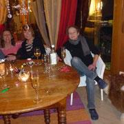 Mit Beate, Doris und Regula am Silverster feiern