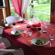 Zucchinispagetti mit Carbonarasauce nach veganer Art
