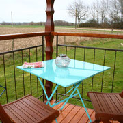 Der neue Tisch auf dem Gypsy Balkon