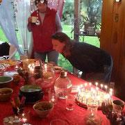 Beate hat zwei leckere Geburtstagskuchen gemacht - 50!!!
