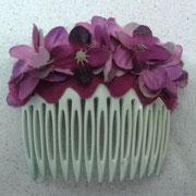 flores de tela color bugambilla.